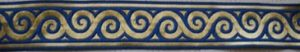 Blue and Gold Scrolls